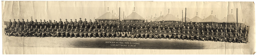 19430220 295th Q.M. Salvage Repair co. Camp Sutton N.C - Albert Izzo