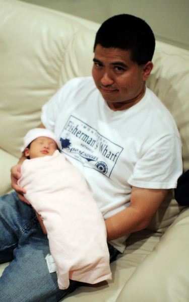 Uncle and Ally (12 days old)