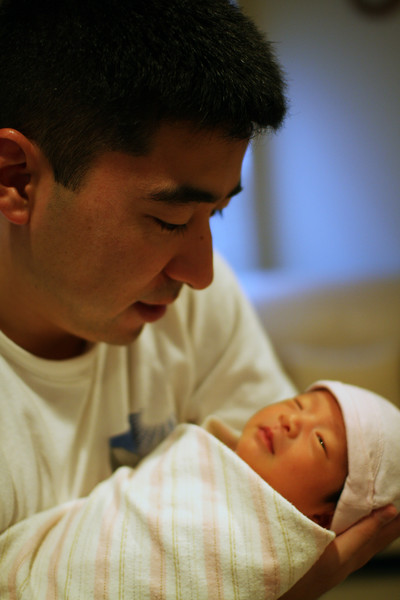 Dad and Ally (11 days old)