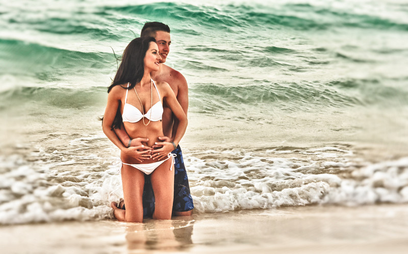 Love Pose<br /> Picture of couple posed for resort photographer on Bavaro Beach Punta Cana
