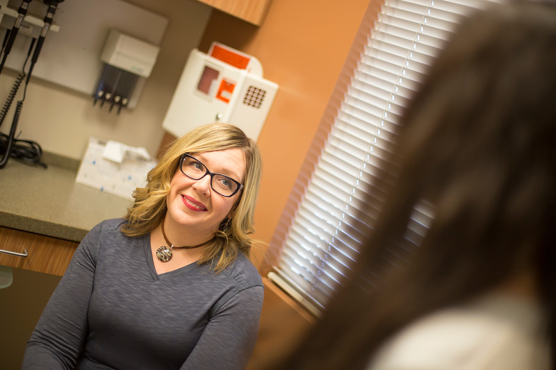 Alumna, Jyll Green who recently graduated UAA Doctorate of Nursing Practice (DNP) sees Christa, a patient who is being treated for drug addiction.  Dr. Green researched Vivitrol for her Doctorate and is looking to expand the use to all soon to be released inmates to reduce recitivism rates.