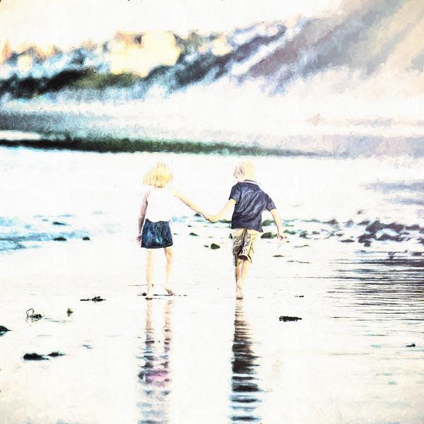 A&A Beach Day: Square Photo Art