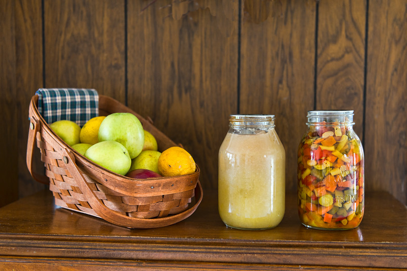 Applesauce and Pickled Veggies