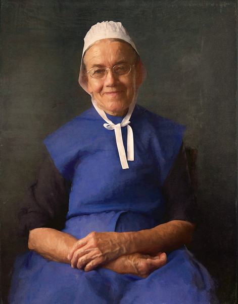Amish Grandmother in Dutch Masters Style