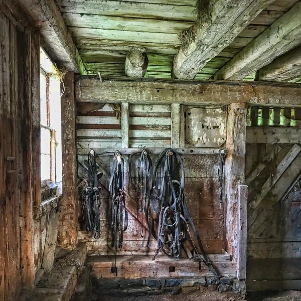 Interior Of Historic Amish Barn