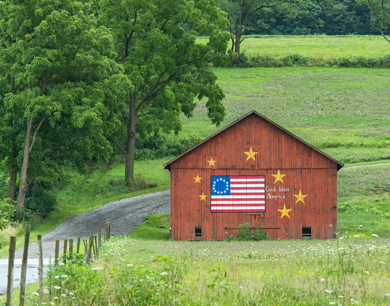Red Barn Commemorating the Revolutionary War