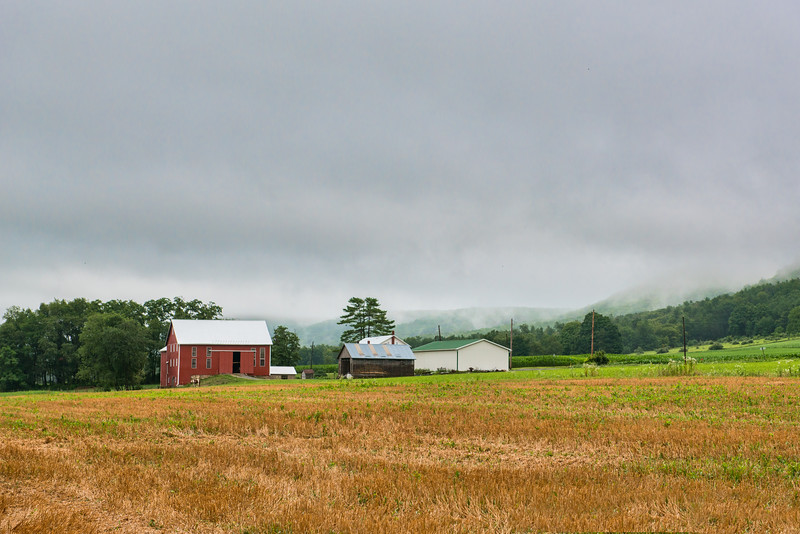 Amish Farm In Stormy Weather