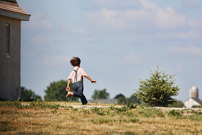 This little Amish boy was just one of many who were running and playing.