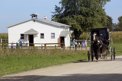 Recess at an Amish school