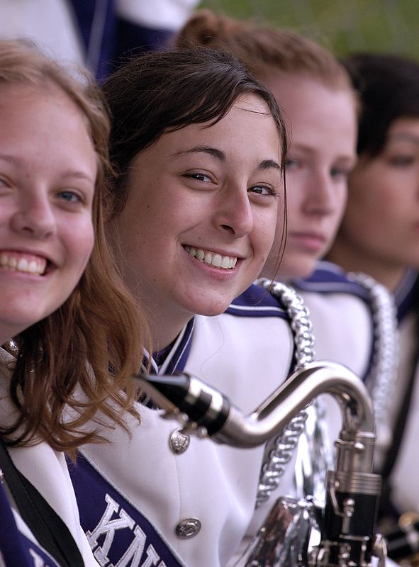 Andrea Teske (center) clarinetist, Kamiak Showband 2004/2005
