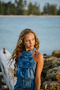 Anna Maria Island Senior Portraits at Coquina Beach