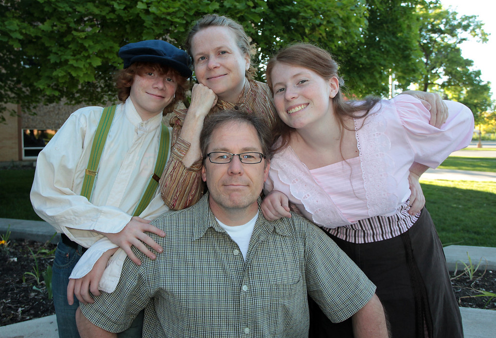 The Sidwell family: David (front and center) with wife, Marianne, and two kids: Owen and Lotti.