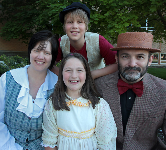 The Teuscher family (from left to right): Karen, Sam, Ginny and Trevor.