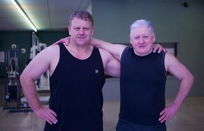 Tony and Peter at the gym, Upper Hutt Jul 2012
