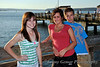 Students enjoy a warm summer evening on Les Davis Pier, Tacoma, WA