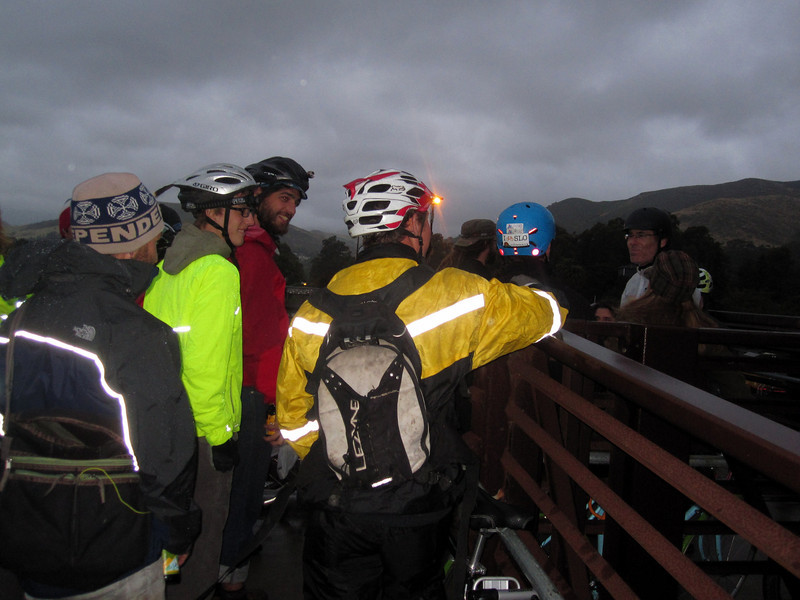 We bike... we bike in rain.