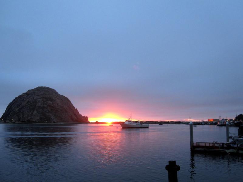 Sunset, same day