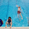 """John Lichens starts out using the backstroke while his brother Evan, left, and  Ella and Cassie Roberts wait for their turn during a swimming class.<br /> The new aquatics facility at the YMCA of Boulder Valley Arapahoe Center has its grand opening on June 12, in Lafayette.<br /> For a video and more photos, go to  <a href=""""http://www.dailycamera.com"""">http://www.dailycamera.com</a>.<br /> Cliff Grassmick / June 9, 2010"""