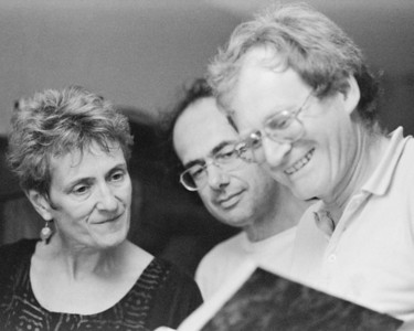 Ruth Tringham, Jean-Paul Demoule and Alain Schnapp, Thorigny, France 1991