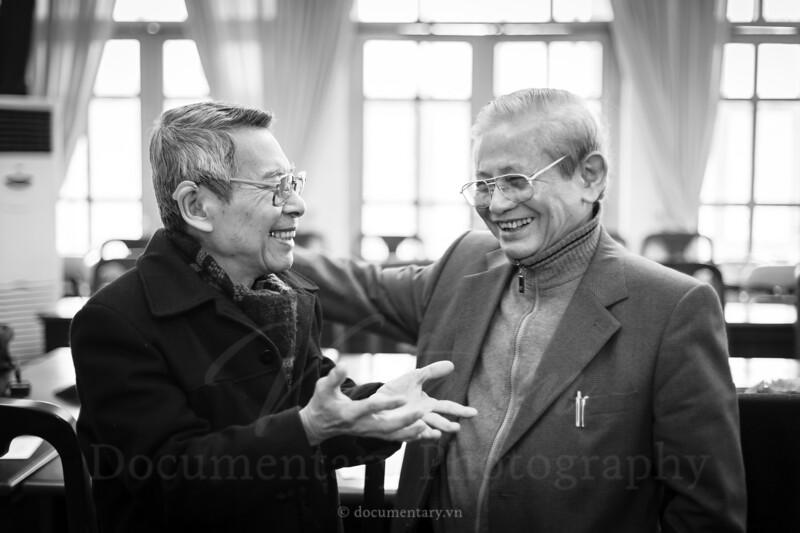 GS Đoàn Thiện Thuật và GS Phan Huy Lê