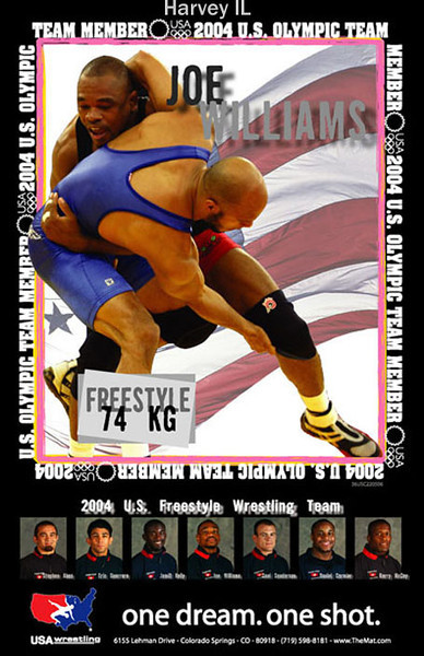 "Joe Williams - noted wrestler and coach - lived in Harvey, IL - attended Mount Carmel high school<br /> <br /> <a href=""http://www.hawkeyesports.com/sports/m-wrestl/mtt/williams_joe00.html"">http://www.hawkeyesports.com/sports/m-wrestl/mtt/williams_joe00.html</a>"