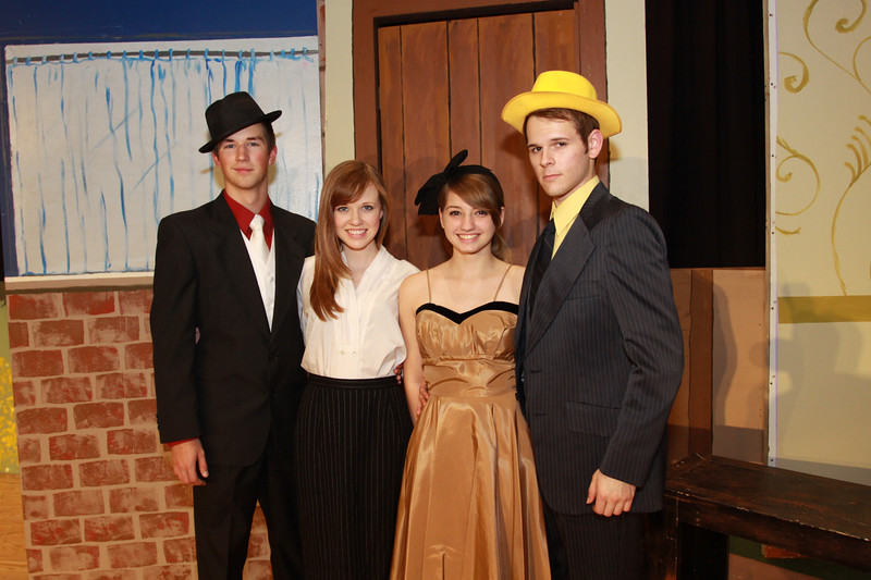 Astronaut High School production of Guys & Dolls with Joshua Goodner as Sky Masterson, Allison Parker as Sarah Brown, Kalin Tenedini as Miss Adelaida and Steven Atkinson as Nathan Detroit, begins on Friday, February 24, 2012 in the school's auditorium.  Rick Andrews, Florida Today.