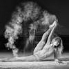 Powder accentuates the movements of the Ballet Dancer and thus creating some unique shots.  Photos taken at my friends Airplane Hanger with the Amazing  @poppyseed_dancer .......................................................