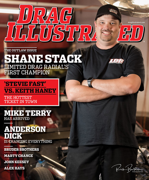 Proud to once again have my work on the cover of the best racing magazine in the industry, Drag Illustrated.  This issue featuring several articles on the big Lights Out 9 Drag Racing event last month.   ..............................     @DragIllustrated @Shanestack_x275   Photographer:  @RickBeldenPhotography  ...........................................