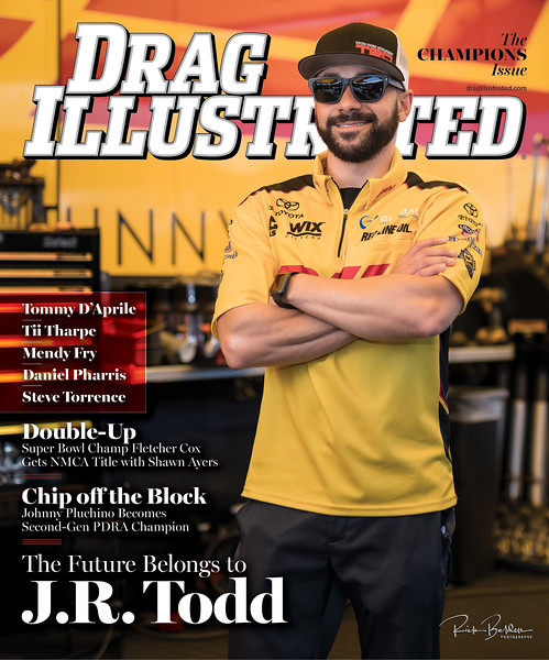 """Proud to have once again photographed the Cover of the best racing publication in the industry  - @Dragillustrated Magazine .  Please go to their website to see the latest """"Champions Issue"""" featuring Top Fuel Funny Car World Champion Mr. @j_r_todd racing for @Teamkalitta  .................................................................................................................................................................................................................................................................................................................................................."""