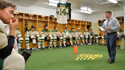 October 11, 2014: during a game between UAA and Wisconsin.  hockey-lockerroom_18973048310_o.jpg