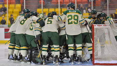 October 10, 2014: during an game between UAA and Maine.  team-huddle_1122_18538183874_o.jpg