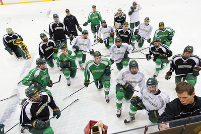 The UAA Hockey team receives instruction from Assistant Coach T.J. Jindra during practice on Monday.  eyeontheseawolves_6_18974637839_o.jpg