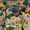 October 11, 2014: during a game between UAA and Wisconsin.