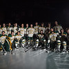 "The UAA Hockey team poses at center ice before their final game of the season on Saturday.  <div class=""ss-paypal-button"">eyeontheseawolves_59_18538230744_o.jpg</div><div class=""ss-paypal-button-end""></div>"