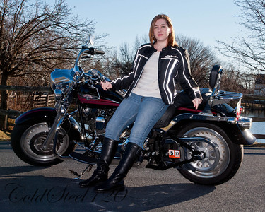 Audra with my Harley
