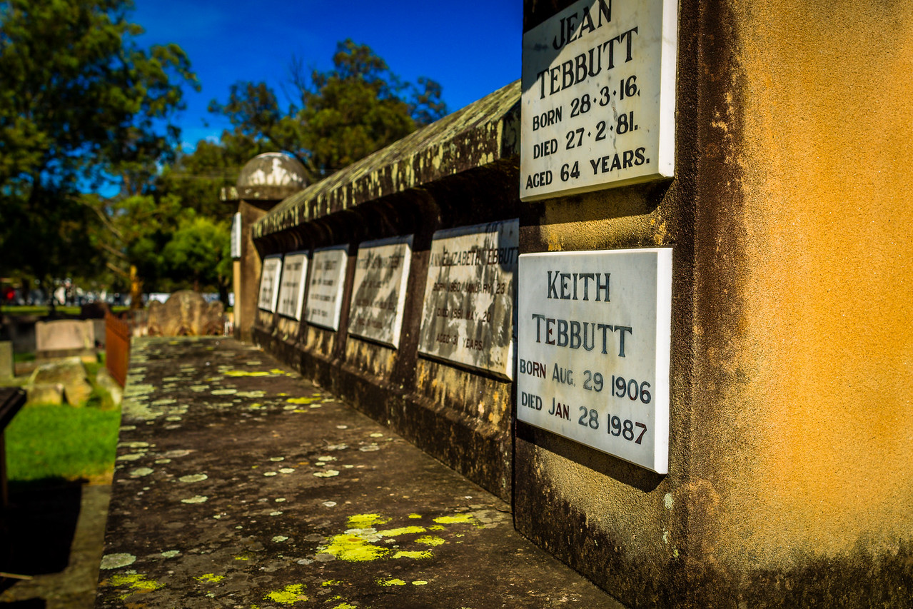Graves of the Tebbutt Family