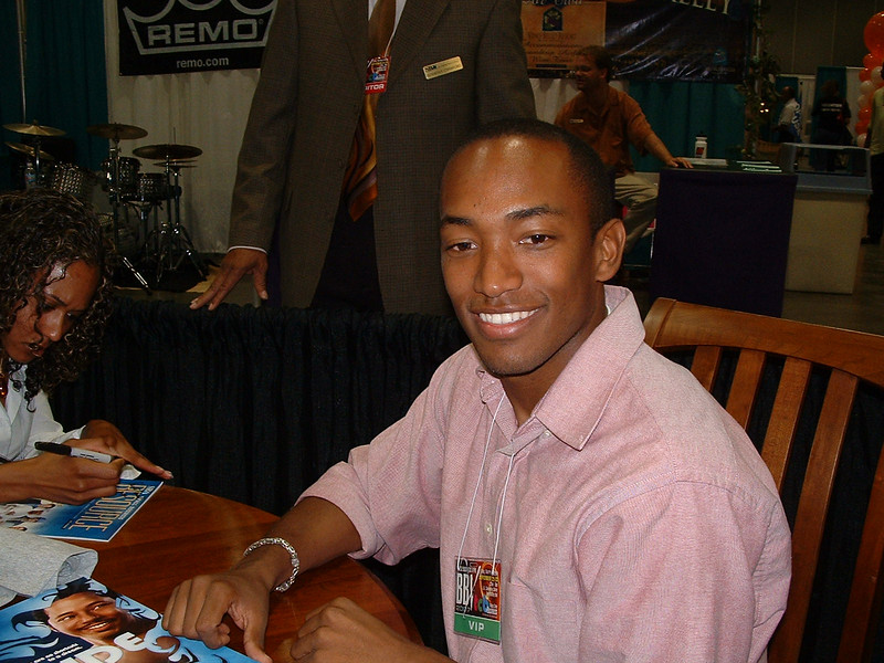 Brandon Fobbs, actor, in the Celebrity Lounge.