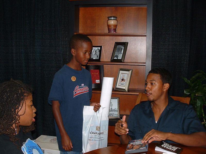 Little Henry with actor Wesley Jonathan, Roll Bounce, at the new Celebrity Lounge
