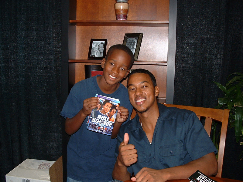 Little Henry with actor Wesley Jonathan, Roll Bounce at the Celebrity Lounge, presented by UMA.