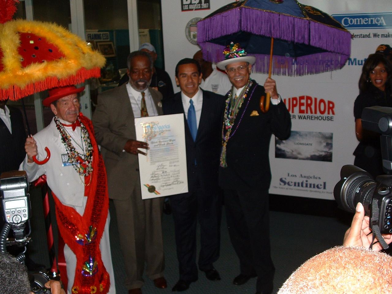 Mayor Villaraigosa gave the Expo a proclamation from the City of Los Angeles.
