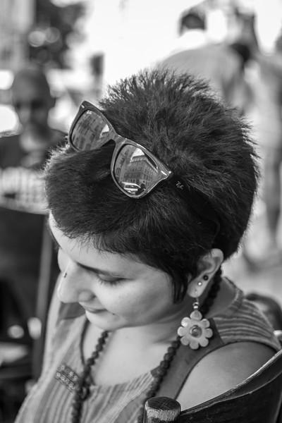 Girl at Franz Kafka Cafe
