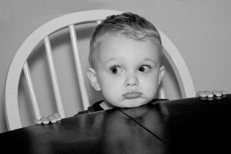 Toddler Boy Waiting for Dinner
