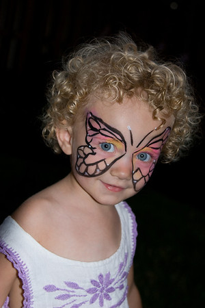 Toddler Showing Off Face Painting