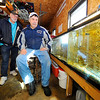 Steve LaPrise of Templeton (seated) and his friend and fishing buddy, Joe LeBlanc of Gardner, have been legally catching live native bait fish from private and public ponds for freshwater and ice-water fishing. The state is considering legislation that would make all trapping of live native bait illegal in Massachusetts for both commercial and personal use.<br /> SENTINEL & ENTERPRISE / BRETT CRAWFORD