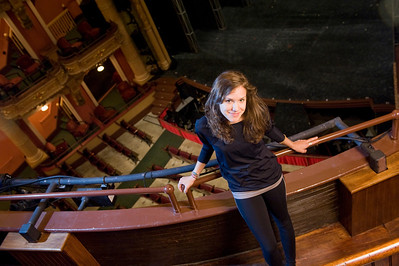 Westfield State University graduate, Rachael Balcanoff at The Colonial Theater in Pittsfield, MA. Balcanoff has spent the summer as an intern at the Berkshire Theater Festival.