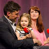 Sabina Strunkin steals the spotlight with dad Dima and mom Jessica, Barbara's daughter, join Barbara Foster for the taping of her 40th anniversary show 'Barbara & You' on FATV on Tuesday evening. SENTINEL & ENTERPRISE / Ashley Green