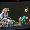 A TV monitor shows a still of Barbara Foster interviewing Johnny Cash earlier in her career during the taping of her 40th anniversary show 'Barbara & You' on FATV on Tuesday evening. SENTINEL & ENTERPRISE / Ashley Green