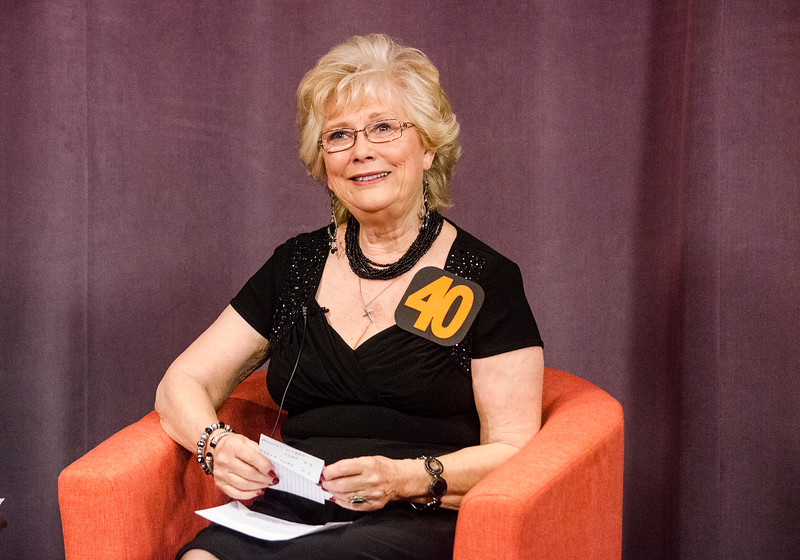 Barbara Foster interviews guests during the taping of her 40th anniversary episode of Barbara & You, her show on Fitchburg Access Television. SENTINEL & ENTERPRISE / Ashley Green