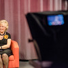 Barbara Foster interviews local author Mark Bodanza during the taping of her 40th anniversary episode of Barbara & You, her show on Fitchburg Access Television. SENTINEL & ENTERPRISE / Ashley Green
