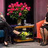 Senator Jennifer Flanagan takes a seat on the Barbara & You Show on Tuesday evening. Host Barbara Foster was celebrating the 40th anniversary of her show on Fitchburg Access Television. SENTINEL & ENTERPRISE / Ashley Green